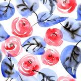 Modèle de roses rouges Images stock
