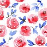 Modèle de roses rouges Image libre de droits
