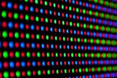 Modèle de RVB LED Photographie stock libre de droits