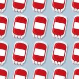 Modèle de sac de transfusion de don du sang Backgroun médical Images stock
