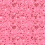 Modèle de Saint-Valentin avec des coeurs illustration libre de droits