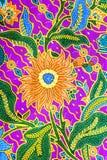 Modèle de sarongs de batik, sarong traditionnel de batik dans l'Asiatique Image libre de droits
