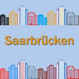 Modèle de Sarrebruck Images stock