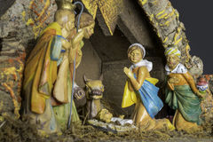 Modèle de scène de nativité de Noël Images stock
