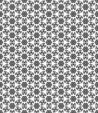 Modèle de Seamsless noir et blanc Images libres de droits
