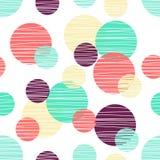 Modèle de Seanless avec le cercle Conception de point de polka illustration libre de droits