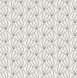 Modèle de Shell Seamless de vecteur Art Deco Style Background Texture géométrique d'ampoule illustration de vecteur