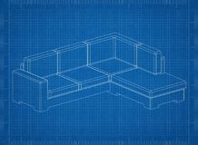 Modèle de Sofa Architect illustration de vecteur