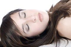 Modèle de sommeil photo stock