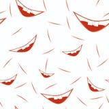 Modèle de sourire de bouche illustration libre de droits
