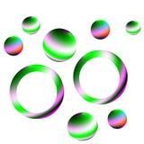 Modèle de sphère de cercle sur un fond blanc Photo stock
