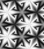Modèle de spirales Fond abstrait géométrique Illusion optique de perspective et de volume Approprié au web design Illustration Libre de Droits