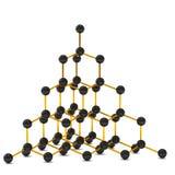 Modèle de structure cristalline de diamant Photo libre de droits