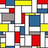 Modèle de style de Mondrian Photographie stock