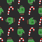Modèle de sucrerie de Noël illustration stock