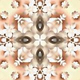 Modèle de symbole de kaléidoscope de batik Images libres de droits