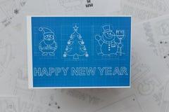 Modèle de symboles de Noël et de nouvelle année Photos stock