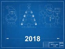 Modèle de symboles de nouvelle année Images libres de droits