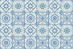 Modèle de Talavera rapiéçage indien Azulejos Portugal Ornement turc Mosaïque marocaine de tuile illustration stock