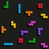 Modèle de tetris de jeu de Pixelated illustration de vecteur