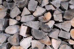 Modèle de texture en bois brune de fond de rondin Images libres de droits