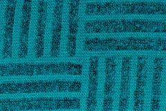 Modèle de tissu de flanelle de turquoise dans le macro photographie stock