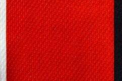 Modèle de toile rouge de tissu pour le fond de texture Image libre de droits