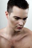Modèle de transpiration de mâle de mode Photo stock