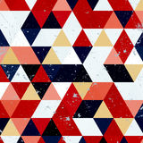Modèle de triangle de vintage Rétro fond de hippie géométrique avec l'endroit pour votre texte Rétro fond de triangle Photos libres de droits