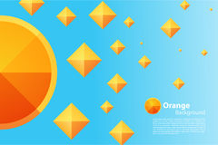 Modèle de triangle et de place Image stock