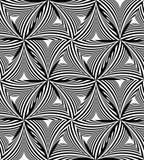 Modèle de triangle incurvé par monochrome sans couture Effet visuel de volume Image libre de droits