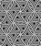 Modèle de triangle incurvé par monochrome sans couture Effet visuel de volume Fond abstrait géométrique polygonal Illustration Stock