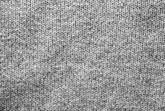 Modèle de tricotage de couleur grise en noir et blanc Photographie stock libre de droits