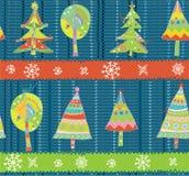 Modèle de tricotage d'hiver sans couture d'arbres de Noël Images libres de droits