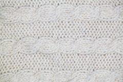 Modèle de tricotage de fil mou chaud de laine gris Photos libres de droits