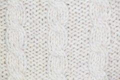 Modèle de tricotage de fil mou chaud de laine gris Images libres de droits