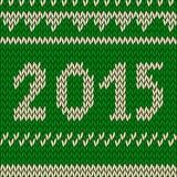 Modèle de tricotage de Noël avec showflakes Photos libres de droits