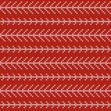 Modèle de tricotage nordique de vecteur de Noël sans couture avec la branche blanche Photographie stock