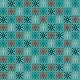 Modèle de tricotage nordique de vecteur de Noël sans couture avec les flocons de neige colorés illustration stock