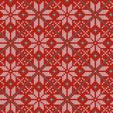 Modèle de tricotage nordique de vecteur de Noël sans couture avec Selburose et éléments décoratifs Images stock