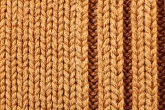 Modèle de tricotage orange Images libres de droits