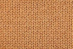 Modèle de tricotage orange Photos libres de droits