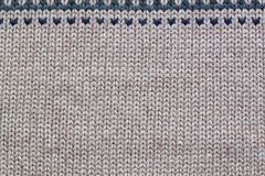 Modèle de tricotage réaliste gris et beige Photo stock