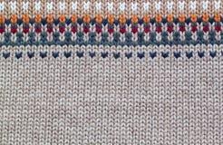Modèle de tricotage réaliste gris et beige Image libre de droits