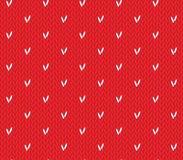 Modèle de tricotage sans couture avec des coeurs Illustration de Vecteur