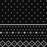 Modèle de tricotage traditionnel pour le chandail laid Photos libres de droits