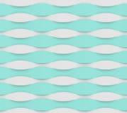 Modèle de vague blanc bleu illustration de vecteur