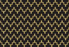 Modèle de vague d'or de miroitement Photographie stock libre de droits