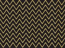Modèle de vague d'or de miroitement Photo stock