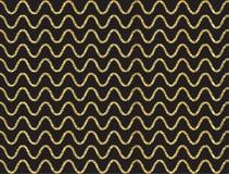 Modèle de vague d'or de miroitement Photos stock